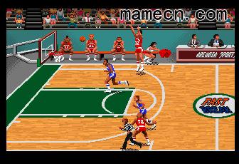 魔术詹斯快攻篮球