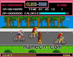 沖撞自行車