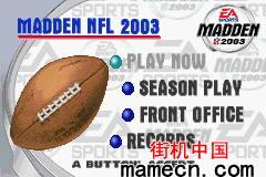 【GBA】NFL橄榄球2003