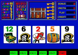 鹦鹉海盗扑克牌机